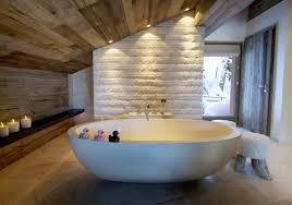 rustic modern bathroom vanities. Stylish Rustic Bathroom With Modern White Tub In Attic Idea Vanities D