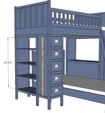 ana white dresser bookshelf support for cabin bunk system diy projects