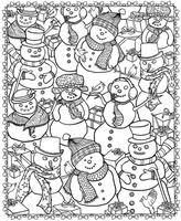 Kleurplaten Voor Volwassenen Winter