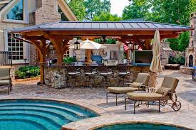 Backyard Designs With Pool And Outdoor Kitchen Design
