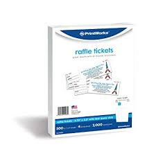 Perforated Raffle Ticket Sheets Amazon Com Printworks Perforated Paper For Raffle Tickets Coupons