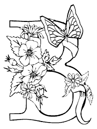 Printable Coloring Pages Of Flowers And Butterflies Coloring Pages Flowers And Butterflies Free Printable