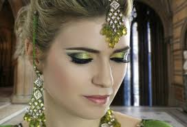 emerald green mehndi smokey eye bridal makeup tutorial traditional asian indian stani arabic you