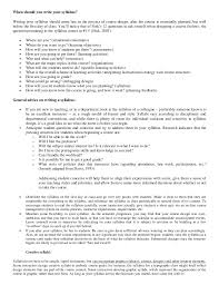 How To Write A Syllabus How To Write A Syllabus