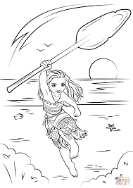 Coloring Pages Moana Page Free Printable 10601500 Attachment