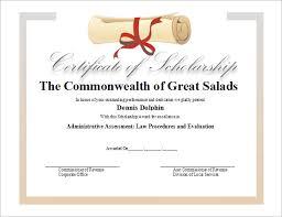 scholarship templates winner certificate template free 8 scholarship certificate