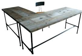 industrial modern office. Modern Industrial Desk Office Chair L Shaped Reclaimed Wood C