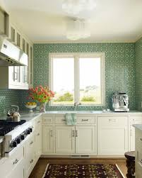Kitchen Tiled Walls Small Green Kitchen Tiles Quicuacom