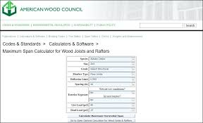 Dimensional Lumber Span Chart Deck Flooring Joist Calculator Live3d Co