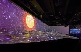 Laser Light Show Houston Museum Natural Science Energy City Exhibit With Vivitek Projectors Energizes 110