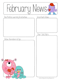 february newsletter template preschool valentines day february newsletter template february