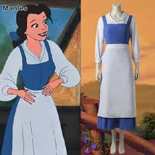 Belle Blue Dress Pattern Mesmerizing Princess Belle Blue Dress Anime Beauty And The Beast Maid Cosplay