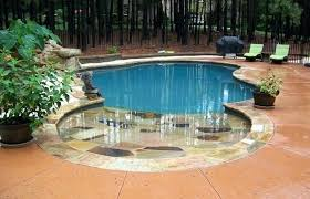 small zero entry pool small beach entry home elements and style medium size entry pool design small zero entry pool
