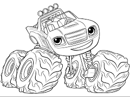 Free Printable Blaze Coloring Pages At Getcoloringscom Free