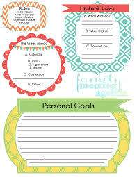 Family Agenda Life Made Creations family meeting free printable 1