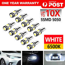 10PCS <b>T10</b> WEDGE 5SMD Parker Number Plate LED Bulbs W5W ...
