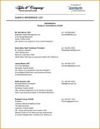 How To Create A Reference List For A Resume Reference Sheet For Resume How To Do Format Job Template