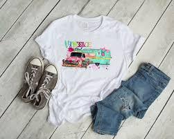 Truck Camper Size Chart Vintage Soul Gypsy Junkin Truck Camper T Shirt