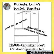 Brags Graphic Organizer For Any Topic Brainstorm Read Anticipate