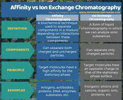 Difference Between Affinity And Ion Exchange Chromatography
