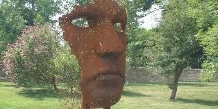 contemporary sculpture garden ornament sculpture art dominant