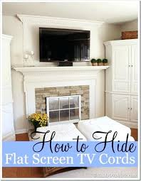 how to hide tv wires over fireplace how to easily hide wall mounted flat screen wires when you cant drill holes mount tv brick fireplace hide wires