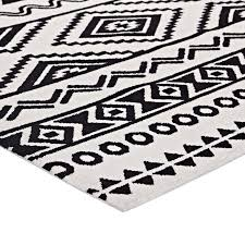 black and white geometric area rug outstanding haku geometric moroccan tribal 5x8 area rug in black