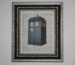 tardis dictionary art print doctor who dr who 8x10 wall art steampunk now