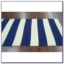 astonishing navy and white striped rug on blue area ideas