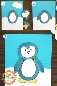 Open any of the printable files above by clicking the image or the link below the image. Penguin Coloring Page And Craft