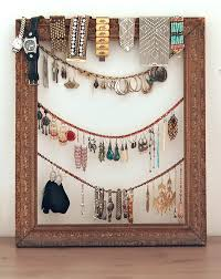 view in gallery diy jewelry organizer antique frame2