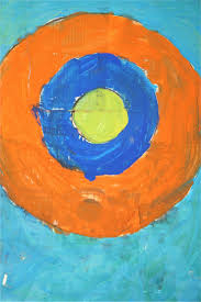 during my jasper johns unit the graders created these fabulous bulls eye paintings we created a texture surface to paint on by layeri