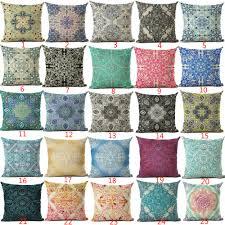 decorative euro pillows. Exellent Euro Cushion Cover Geomtric Pillowcase Bohemian Style Cotton Linen Euro Pillow  Printed Size 4545 Throw Pillows Decorative European Pillowcases Double  And E