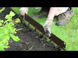 how to install everedge lawn and landscape edging