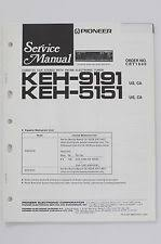 pioneer cassette keh pioneer keh 9191 5151 cassette stereo tuner original service manual