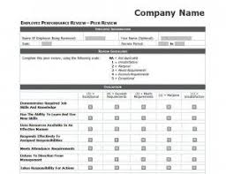 Employee Evaluation Checklist Template Performance Review Checklist Printable Template Employee