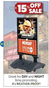 Menu Display Stands Restaurant Outdoor Menu Cases Indoor Restaurant Display Cases Lots of 62