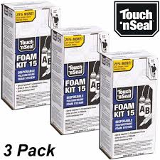 touch n seal diy spray foam insulation kit 15 closed cell qty 3