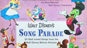 Small Picture Disneyland Themed Land Songs from WALT DISNEYS SONG PARADE 1956