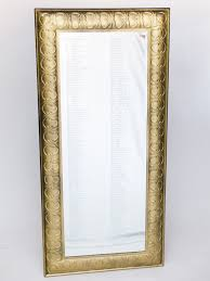 Tall Gold Floor Mirror Excellent For A Seating Chart At Your