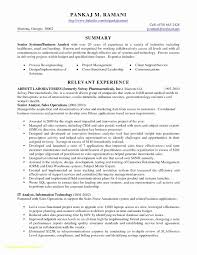 Ba Resume Sample Inspirational Top Result Senior Business Analyst