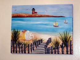 beach scene painted on canvas