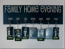 Family Home Evening Chart Ideas Crafty Cousins Chore Charts