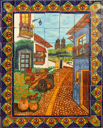 Mural Tiles For Kitchen Decor Kitchen Tile Mural Tile murals Kitchen decor and Mexicans 54