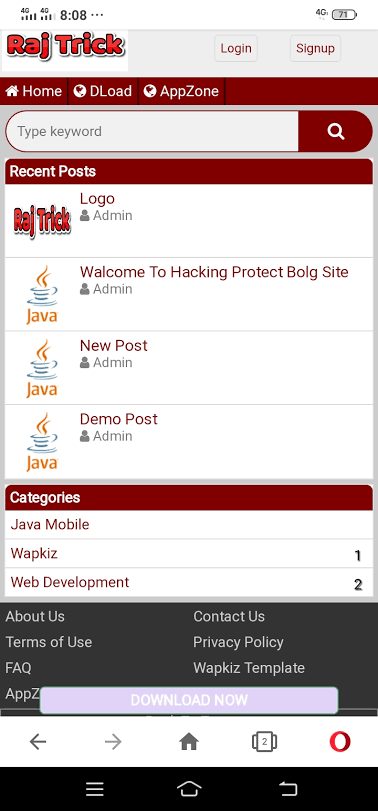 Hacking Protrct Blog Site Theme