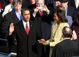 photo essay president barack obama us opinion and commentary barack obama takes the oath of office as the 44th president of the united states chief justice john roberts and his wife michelle on jan 20 2009