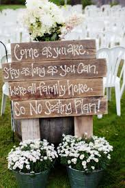 lovely rustic wedding ceremony sign