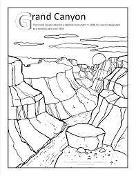 Small Picture Grand canyon Coloring page at GilaBencom Arizona Coloring Pages