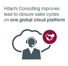 hitachi consulting logo. hitachi consulting improves lead-to-closure sales cycles on 1 global cloud platform. logo