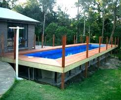 Above Ground Pool Rectangle Rectangle Above Ground Pool Installation